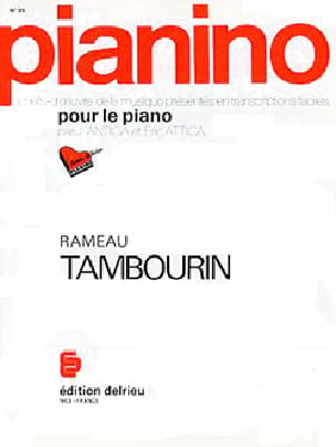 Jean-Philippe Rameau - Tambourine. Pianino 35 - Partition - di-arezzo.co.uk