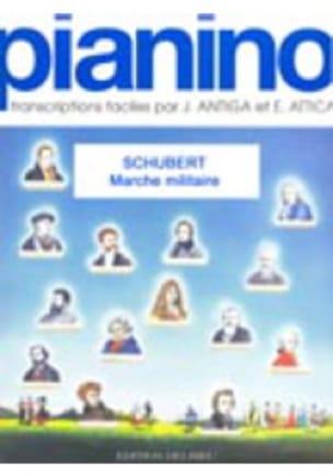 Marche militaire - Pianino 30 - SCHUBERT - laflutedepan.com