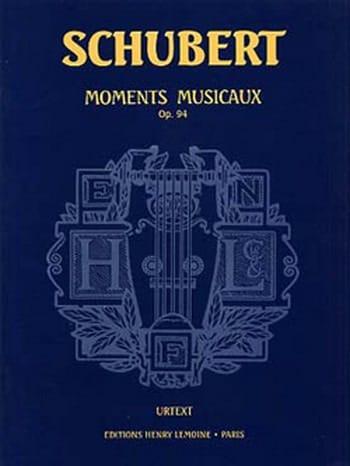 Moments Musicaux Opus 94 - SCHUBERT - Partition - laflutedepan.com