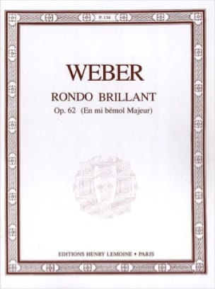 Carl Maria von Weber - Rondo Brillant Op.62 In E Flat Major - Partition - di-arezzo.co.uk