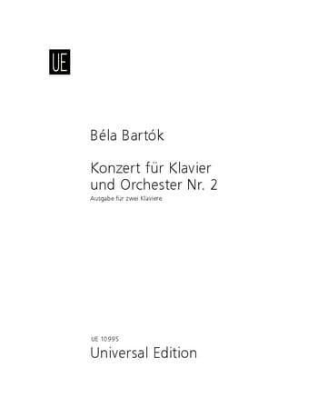 Concerto pour piano N° 2 - BARTOK - Partition - laflutedepan.com