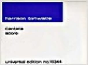 Cantata - Harrison Birtwistle - Partition - laflutedepan.com