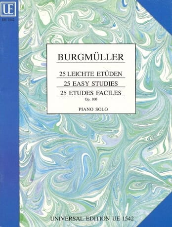 Frédéric Burgmuller - 25 Leichte Etüden. Opus 100 - Partition - di-arezzo.co.uk