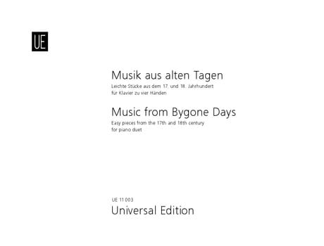 Musik aus alten Tagen - Partition - Piano - laflutedepan.com