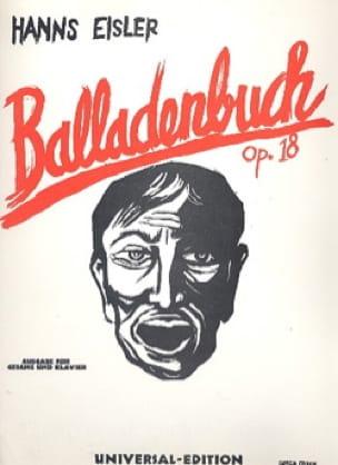 Balladenbuch Op. 18 - Hanns Eisler - Partition - laflutedepan.com