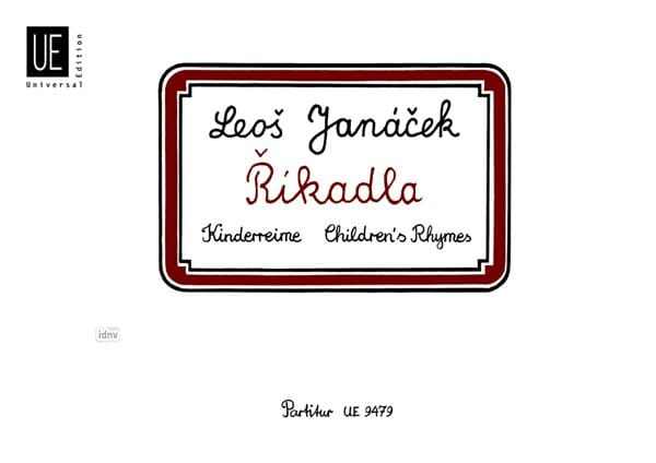Rikadla - JANACEK - Partition - laflutedepan.com