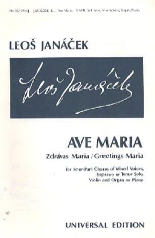 Leos Janacek - Ave Maria - Partition - di-arezzo.fr