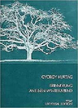 Erinnerung An Einen Winterabend Op. 8 1969 - KURTAG - laflutedepan.com