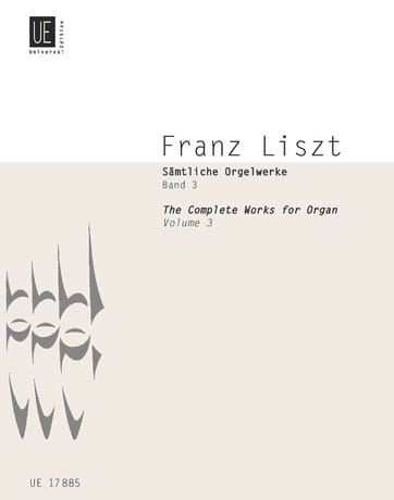Franz Liszt - Organ Work Volume 3 - Partition - di-arezzo.com