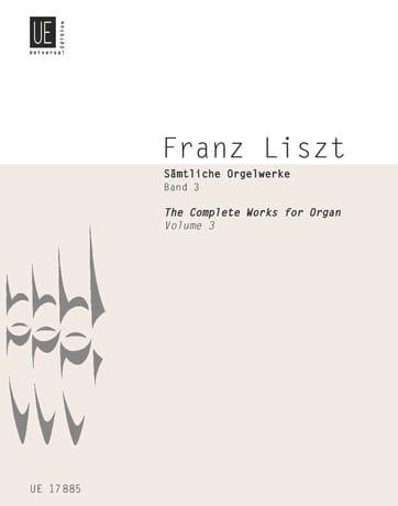 Franz Liszt - Organ Work Volume 3 - Partition - di-arezzo.com