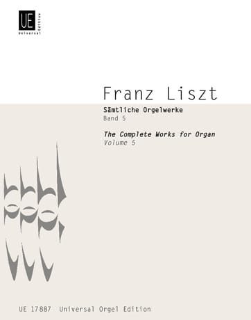 Franz Liszt - Organ Work Volume 5 - Partition - di-arezzo.com