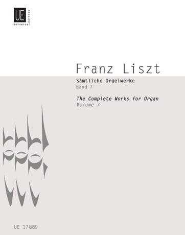 Oeuvre d'Orgue Volume 7 - LISZT - Partition - Orgue - laflutedepan.com