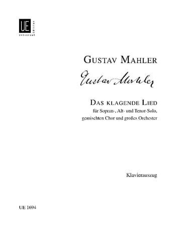 Das Klagende Lied - MAHLER - Partition - Chœur - laflutedepan.com