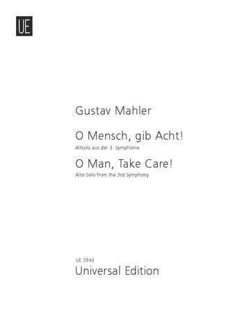 O Mensch , Gib Acht ! - Gustav Mahler - Partition - laflutedepan.com