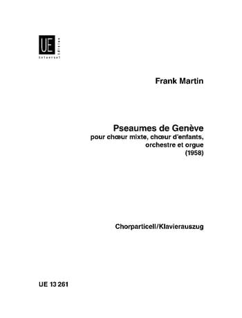 Frank Martin - Psalms of Geneva - Partition - di-arezzo.co.uk