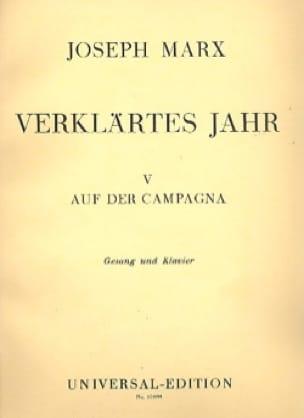 Auf Der Campagna - Joseph Marx - Partition - laflutedepan.com