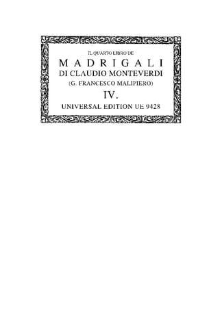 Il Quarto Libro de Madrigali A 5 Voci 1615. Oc4 - laflutedepan.com