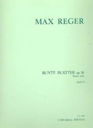 Bunte Blätter, Volume 2 Op. 36 - Max Reger - laflutedepan.com