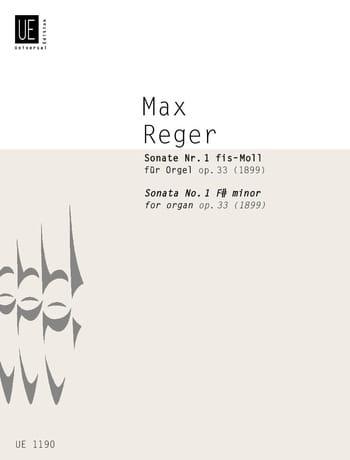 1ère Sonate Fa dièse Mineur Op. 33 - Max Reger - laflutedepan.com