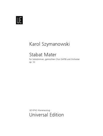 Stabat Mater Opus 53 - SZYMANOWSKI - Partition - laflutedepan.com