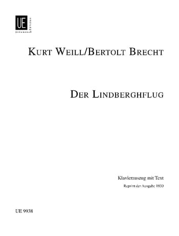 Kurt Weill - Der Lindberghflug - Partition - di-arezzo.fr