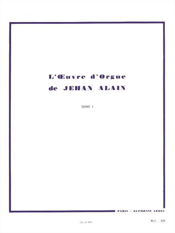 Jehan Alain - Organ Work. Volume 1 - Partition - di-arezzo.co.uk