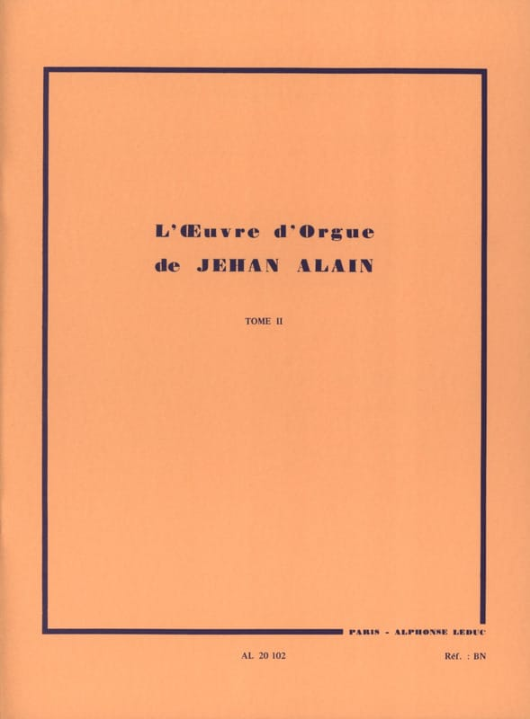 Jehan Alain - Organ Work. Volume 2 - Partition - di-arezzo.co.uk