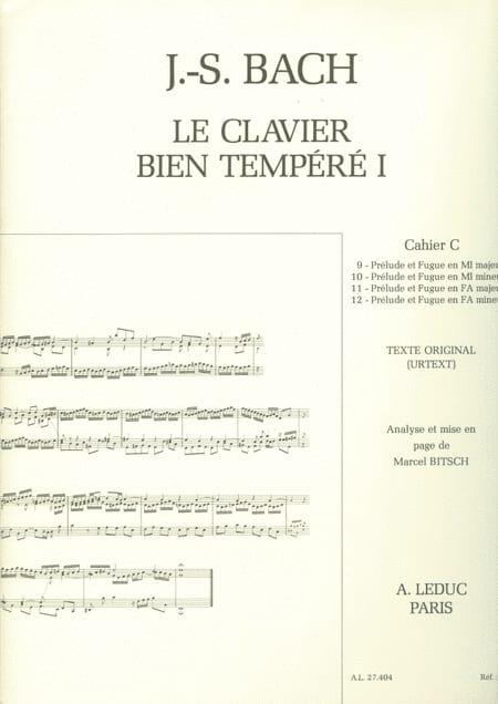 Le Clavier Bien Tempéré - Livre 1 Cahier C - laflutedepan.com