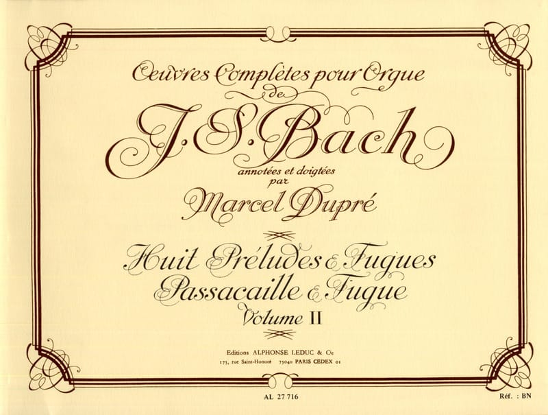 BACH / DUPRE - Complete Works For Organ Volume 2 - Partition - di-arezzo.co.uk