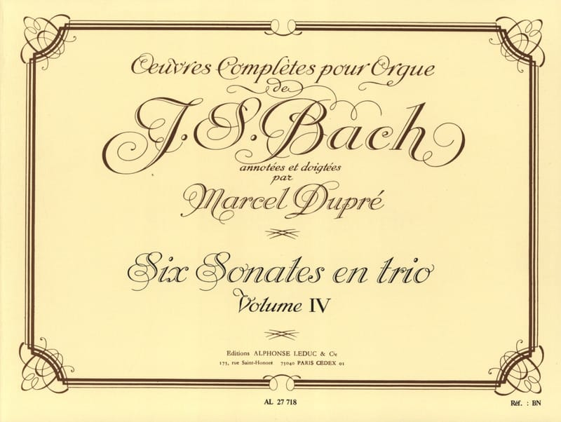 BACH / DUPRE - Complete Works For Organ Volume 4 - Partition - di-arezzo.co.uk