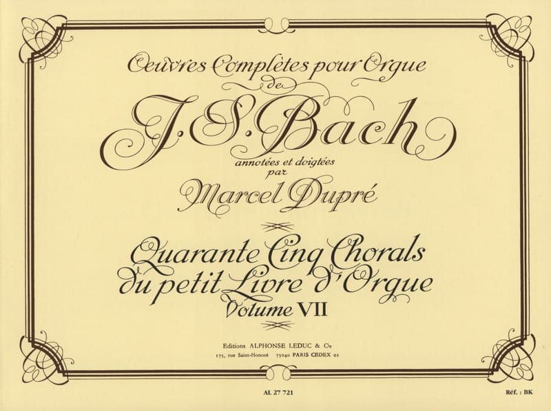 BACH / DUPRE - Complete Works For Organ Volume 7 - Partition - di-arezzo.co.uk