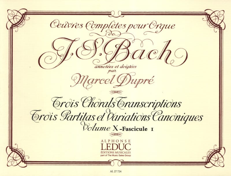 BACH / DUPRE - Complete Works For Organ Volume 10/1 - Partition - di-arezzo.co.uk