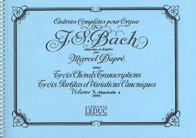 BACH / DUPRE - Complete Works For Organ Volume 10/2 - Partition - di-arezzo.co.uk