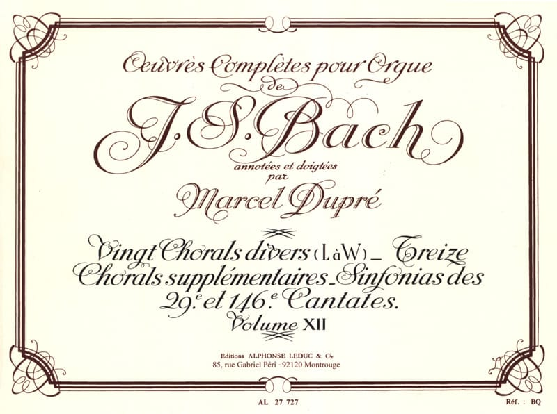 BACH / DUPRE - Complete Works For Organ Volume 12 - Partition - di-arezzo.co.uk