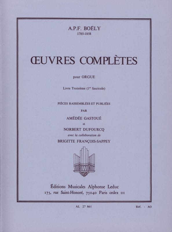 Oeuvres Complètes. Livre 3 Volume 1 - laflutedepan.com
