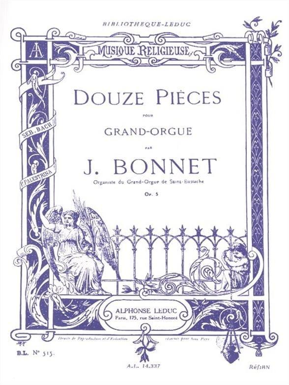 12 Pièces Opus 5 - Joseph Bonnet - Partition - laflutedepan.com