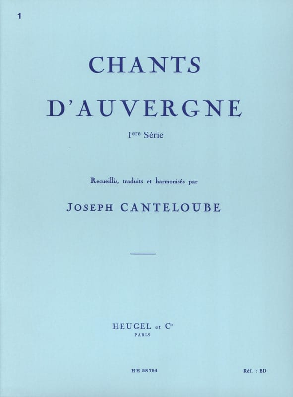 Chants D'Auvergne Volume 1 - laflutedepan.com