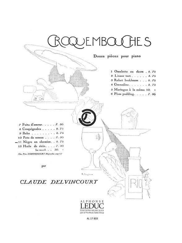 Pets de Nonne - Claude Delvincourt - Partition - laflutedepan.com