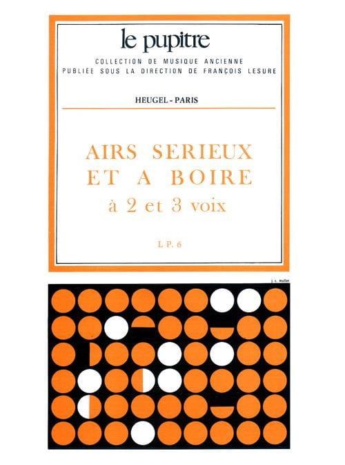 Airs Sérieux et A Boire - Partition - Chœur - laflutedepan.com