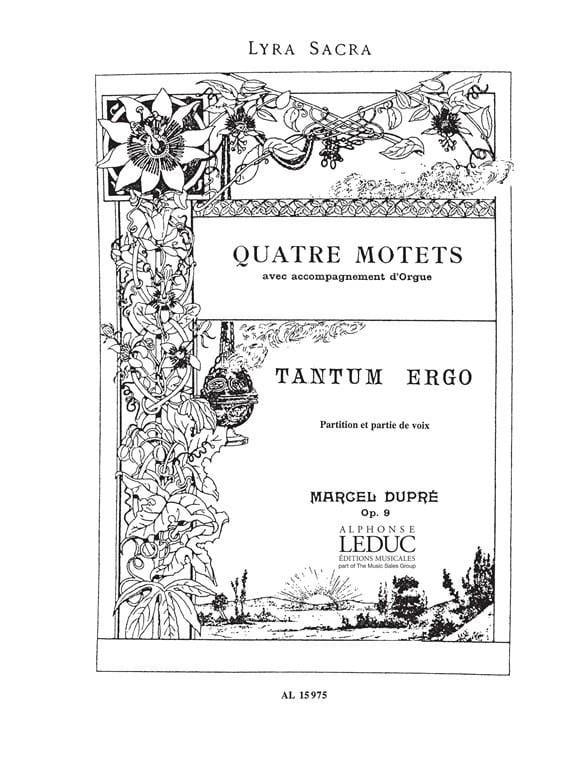 Tantum Ergo. Opus 9-3 - DUPRÉ - Partition - Chœur - laflutedepan.com