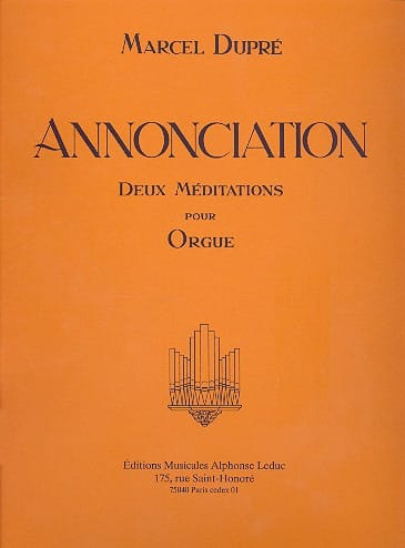 Annonciation Opus 56 - DUPRÉ - Partition - Orgue - laflutedepan.com