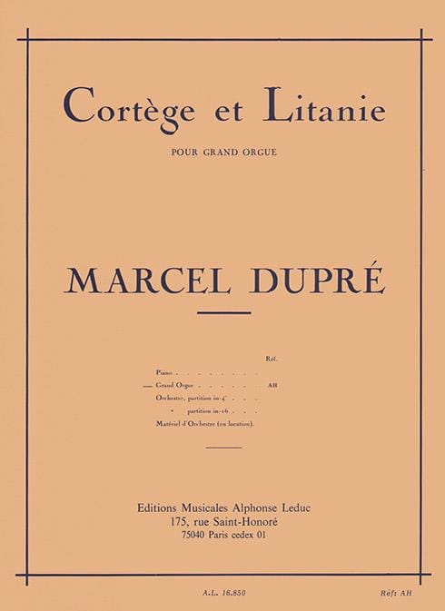 Marcel Dupré - Procession and Litany Opus 19-2 - Partition - di-arezzo.com