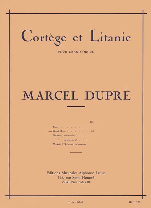 Cortège et Litanie Opus 19-2 - DUPRÉ - Partition - laflutedepan.com