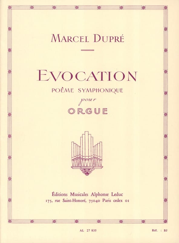 Marcel Dupré - Evocation Opus 37 - Partition - di-arezzo.com