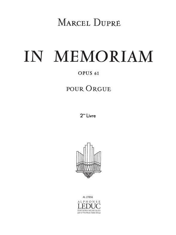 In Memoriam Op. 61 - Volume 2 - DUPRÉ - Partition - laflutedepan.com