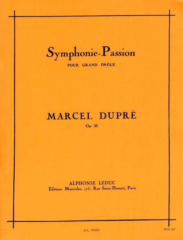Marcel Dupré - Symphonie Passion Opus 23 - Partition - di-arezzo.fr