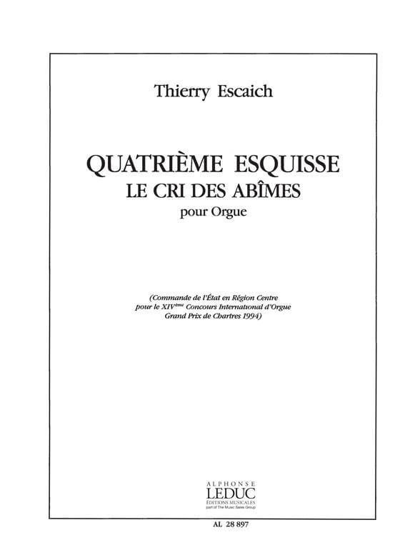 Esquisse N°4 - Thierry Escaich - Partition - Orgue - laflutedepan.com