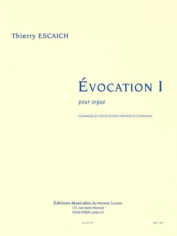 Thierry Escaich - Evocation 1 - Partition - di-arezzo.co.uk