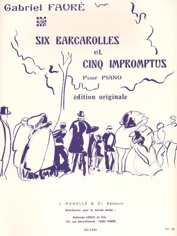 Gabriel Fauré - 6 Barcarolles And 5 Impromptus - Partition - di-arezzo.co.uk