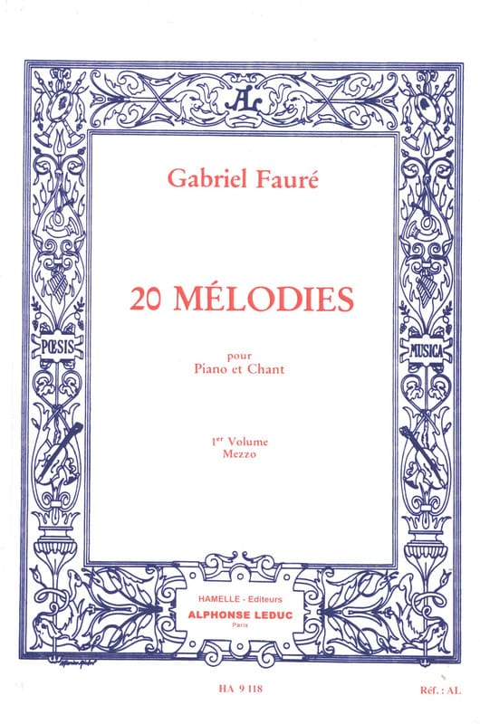 Gabriel Fauré - 20 Melodies Volume 1. Mezzo - Partition - di-arezzo.co.uk